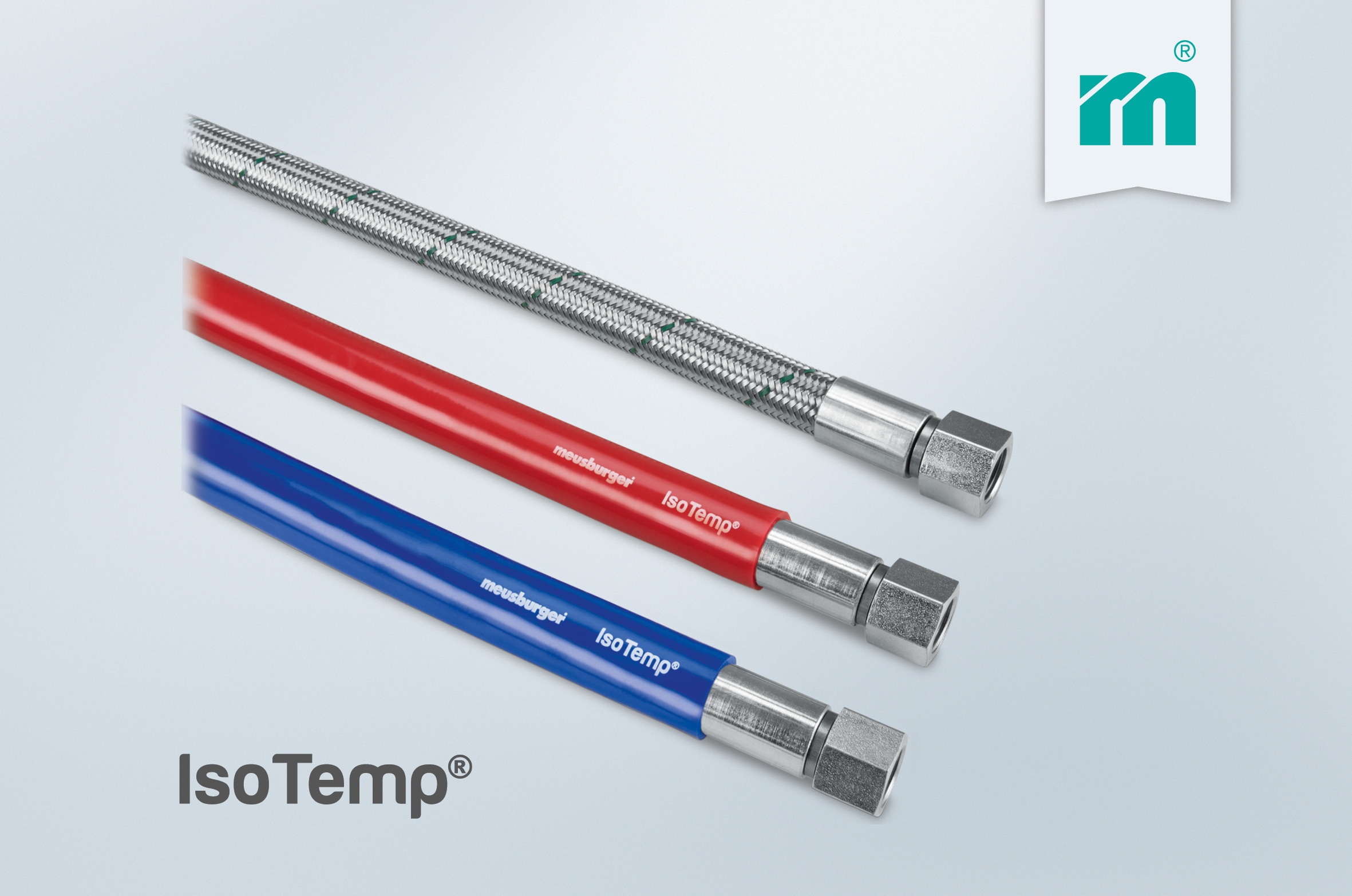 More safety in the operation thanks to the IsoTemp® high temperature hose