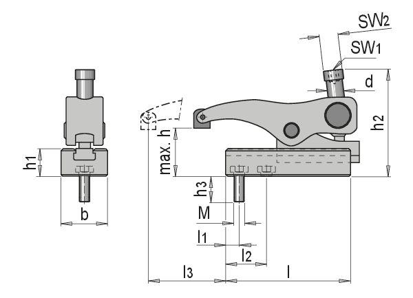 Szerszámleszorító fröccsöntéshez Mechanikus befogóeszközök HWS 100 ...