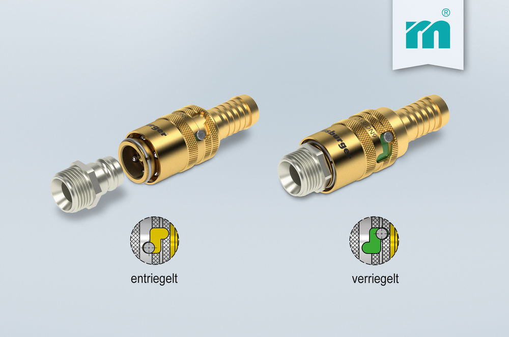 NEW from Meusburger – Automatic safety hose coupler for cooling circuit connections